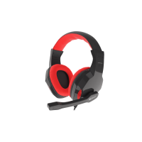 AUSINĖS GENESIS ARGON 110 Gaming Headset, On-Ear, Wired,Microphone, Black/Red