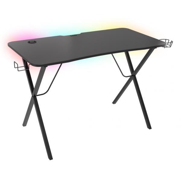 Žaidimų stalas Genesis Holm 200 RGB Gaming Desk Black