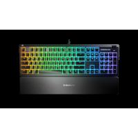 KLAVIATŪRA SteelSeries Apex 3 Gaming Keyboard, US Layout, Wired, Black