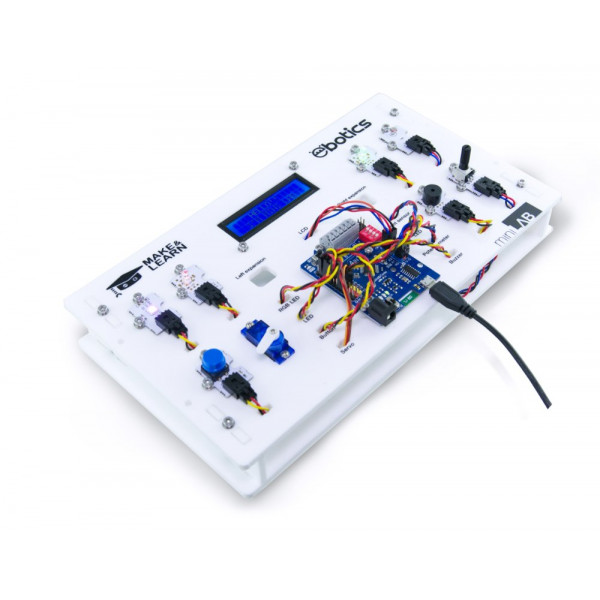 ROBOTIKOS PRADMENŲ RINKINYS EBOTICS Mini Lab Electronic And Programming Kit With Multiple Component