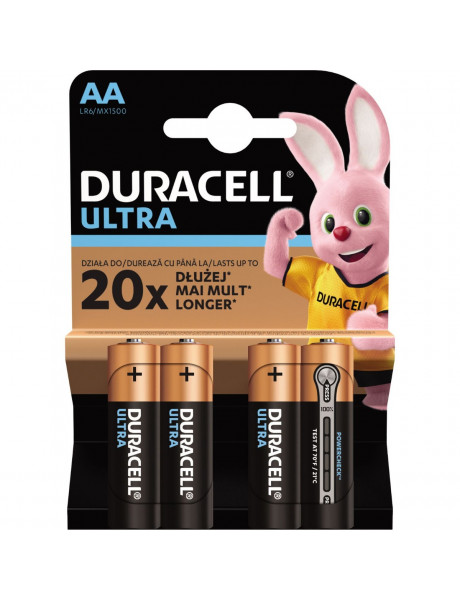 Baterijos DURACELL Ultra AA, 4vnt.