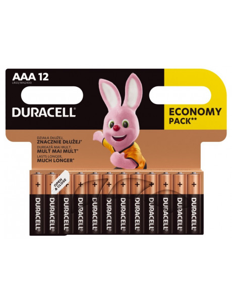 Baterijos DURACELL AAA, LR03, 12vnt