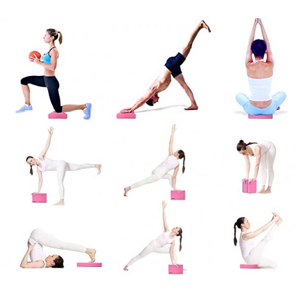 Jogos blokas PROIRON Yoga Block Exercise Brick, 305 x 205 x 50 mm, 1 pc, Pink, High-density EVA foam