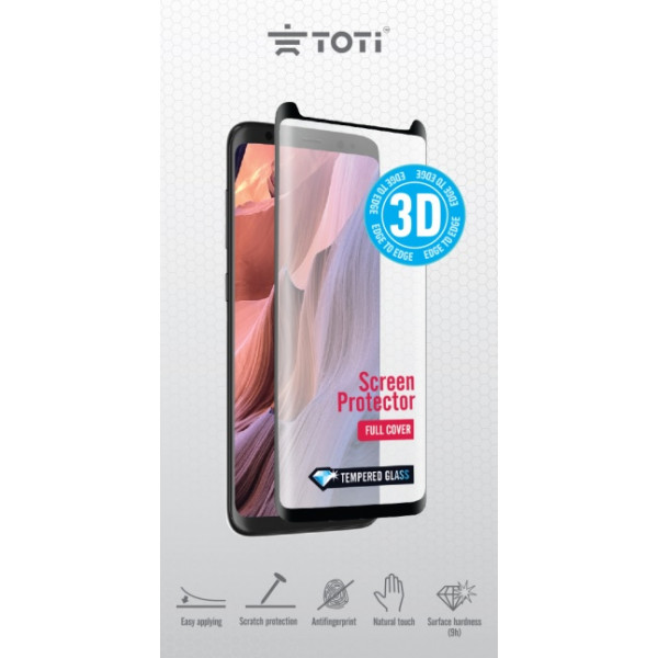 Toti TEMPERED glass 3D screen protector for iPhone11 / Black