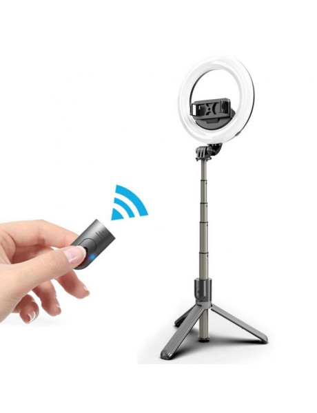 Mocco 4in1 Universal SelfieStick with 3-Tone LED Lamp/ Tripod Stand / BluetoothRemote Control