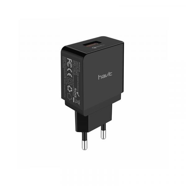 ADAPTERIS HAVIT 126 Smart home charger 3.0, USB/18W