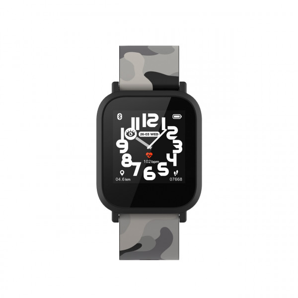 Laikrodis Canyon Kids smart watch 1.3 inches IPS full touch screen black pl