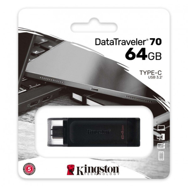 MEMORY DRIVE FLASH USB-C 64GB DT70/64GB KINGSTON