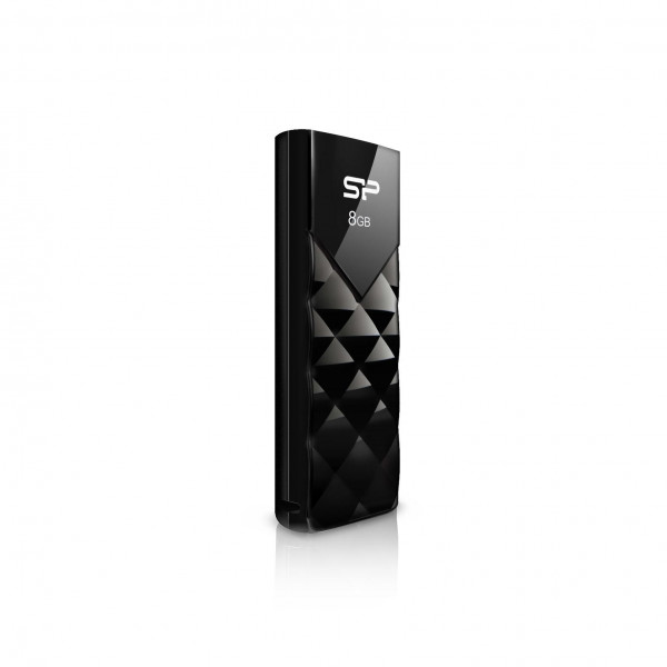 USB ATMINTINĖ SILICON POWER 8GB, USB 2.0 ULTIMA U03, BLACK