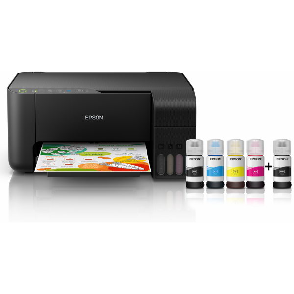 "Spausdintuvas Epson ""EcoTank"" L3150 Colour, Inkjet, Multifunction Printer, A4, WiFi, Black"