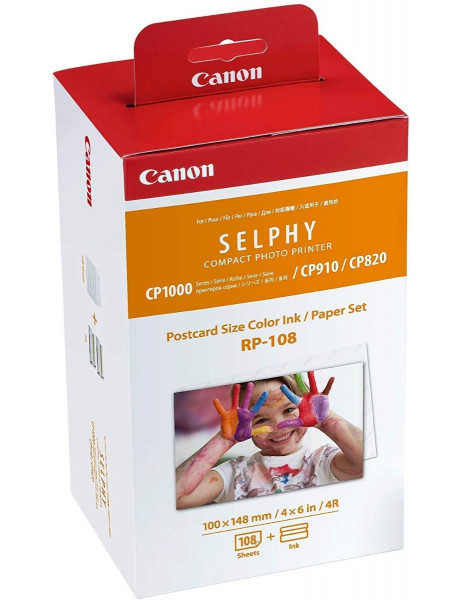 FOTO POPIERIUS Canon Color Ink/Paper Set for SELPHY CP1300 Printer RP-108