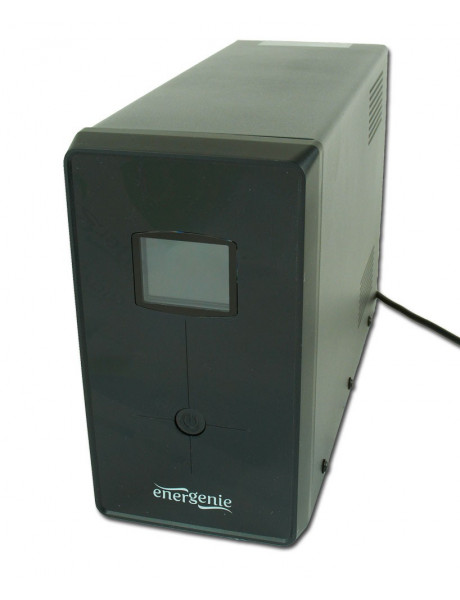 EnerGenie UPS with USB and LCD display, Black 1200 VA, 720 W