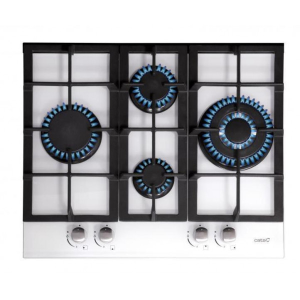 CATA hob  LCI 6031 WH  Gas on glass, Number of burners/cooking zones 4, Rotary knobs, White