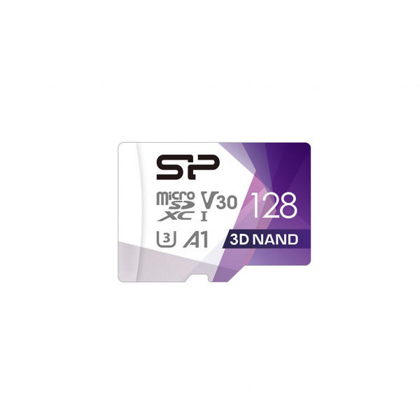 Silicon Power Superior Pro 128 GB, micro SDXC, Flash memory class 10, with Adapter, C10,UHS-I U3, A1, V30