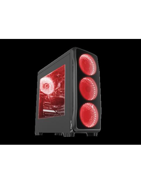 GENESIS TITAN 750 Pc case, Midi tower, USB 3.0, Red