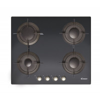 Candy CVG 64 SGNX Gas on glass, Number of burners/cooking zones 4, Black,