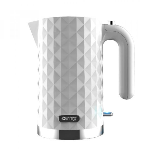Camry CR 1269  Standard kettle, Plastic, White, 2200 W, 360° rotational base, 1.7 L