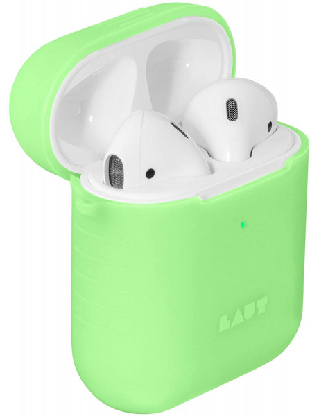 LAUT POD NEON for AirPods 1/2 Acid Yellow, Charging Case, Apple AirPods 1/2