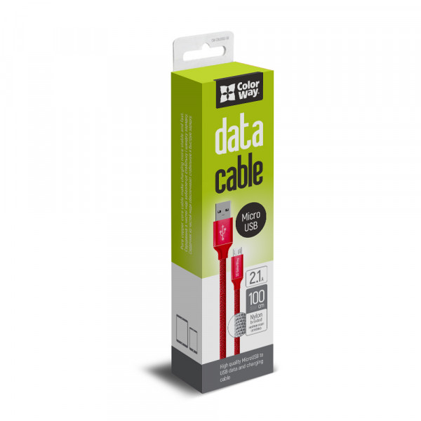 ColorWay USB Charging cable Red, 1 m